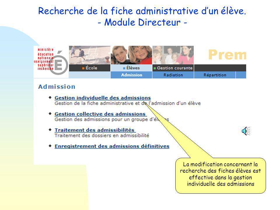 Si et seulement si l'élève à inscrire n'apparaît pas dans cette liste, cliquer sur le bouton nouveau afin de créer sa fiche administrative.