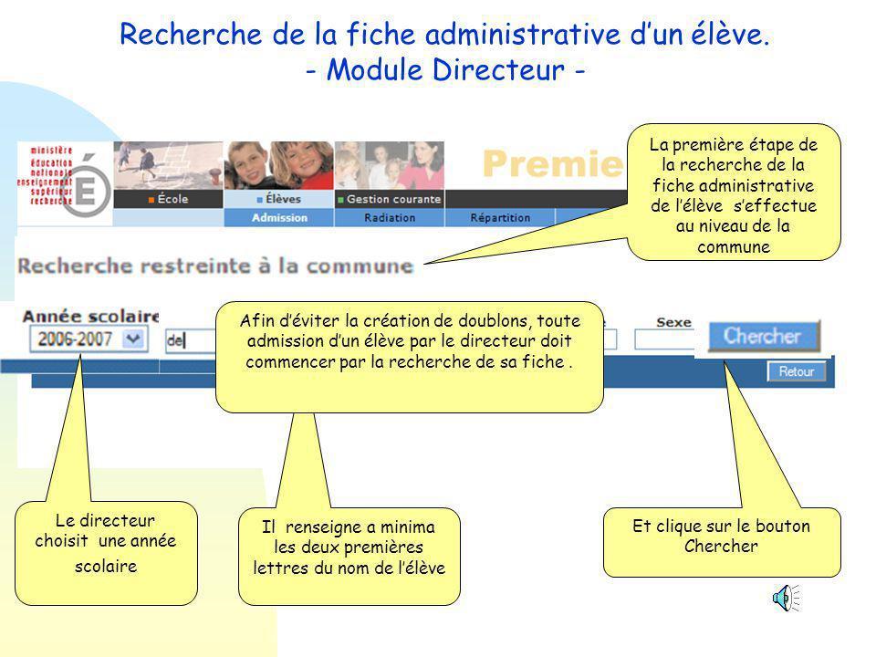 Les évolutions de la version 6.4 1 Modification des recherches de fiche - Module Mairie - Module Directeur 2 Recherche de la commune de résidence de l élève et des responsables à partir du code postal.