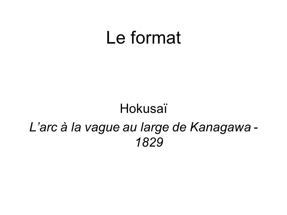 Le format Hokusaï L'arc à la vague au large de Kanagawa - 1829