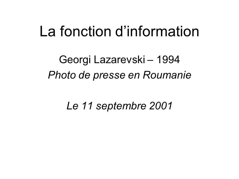 La fonction d'information Georgi Lazarevski – 1994 Photo de presse en Roumanie Le 11 septembre 2001