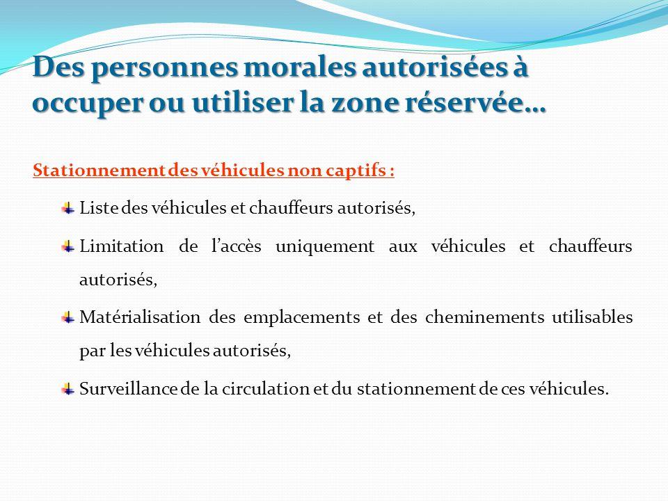 Stationnement des véhicules non captifs : Liste des véhicules et chauffeurs autorisés, Limitation de l'accès uniquement aux véhicules et chauffeurs au