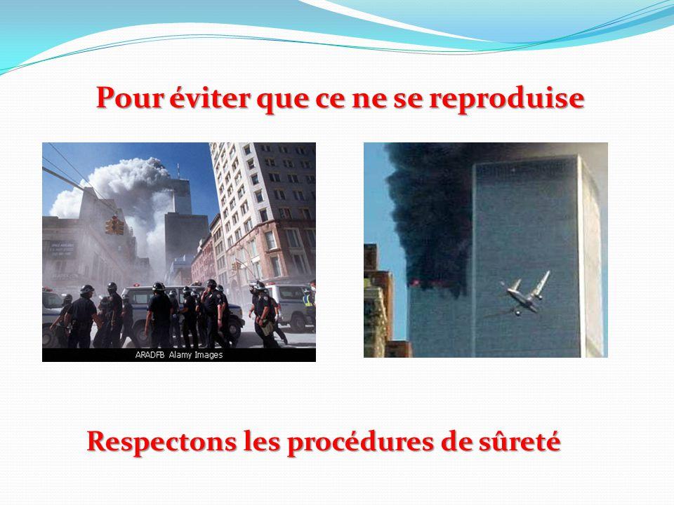 Pour éviter que ce ne se reproduise Respectons les procédures de sûreté