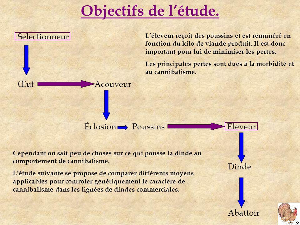 Objectifs de l'étude.