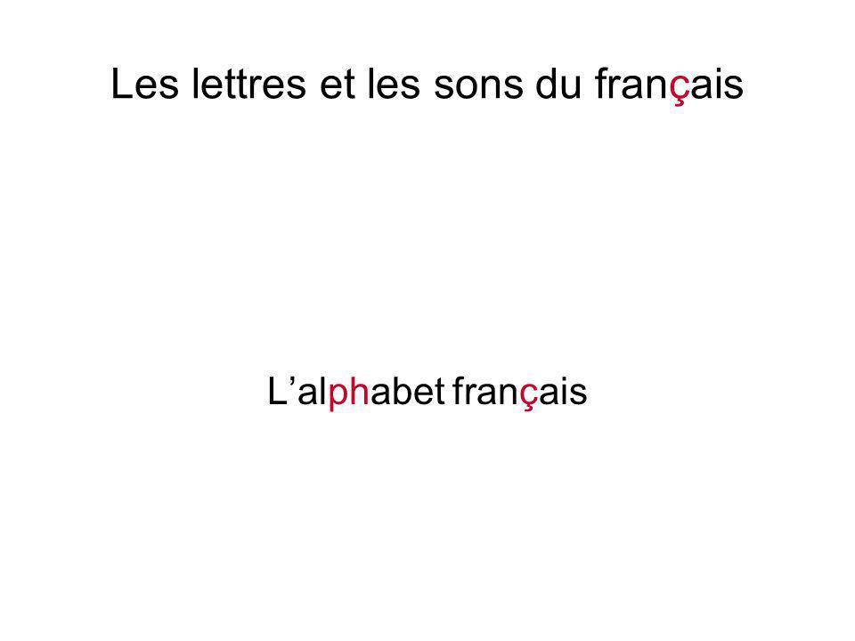Les lettres et les sons du français L'alphabet français Pour écrire le français, on utilise l'alphabet latin moderne avec ses vingt-six lettres : A B C D E F G H I J K L M N O P Q R S T U V W X Y Z