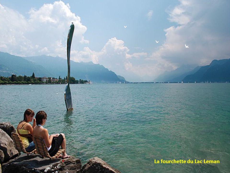 Le Rocher de Naye et le lac Leman près de Montreux