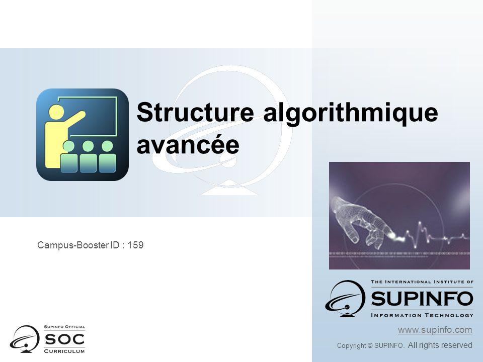 Instructions répétitives : POUR Structure algorithmique avancée
