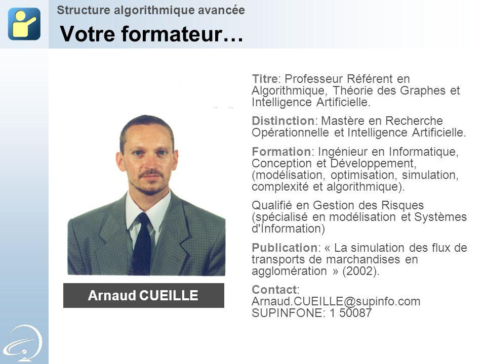 Votre formateur… Titre: Professeur Référent en Algorithmique, Théorie des Graphes et Intelligence Artificielle. Distinction: Mastère en Recherche Opér