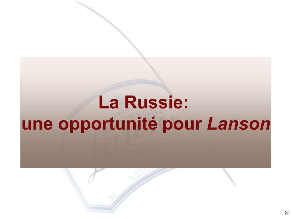 21 La Russie: une opportunité pour Lanson