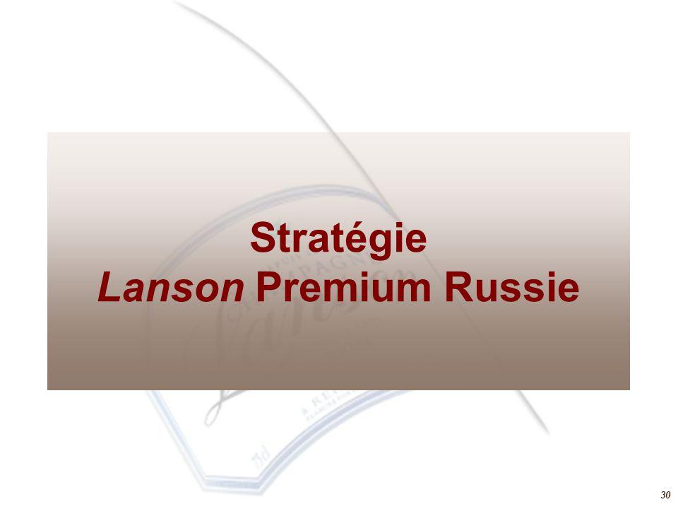 30 Stratégie Lanson Premium Russie