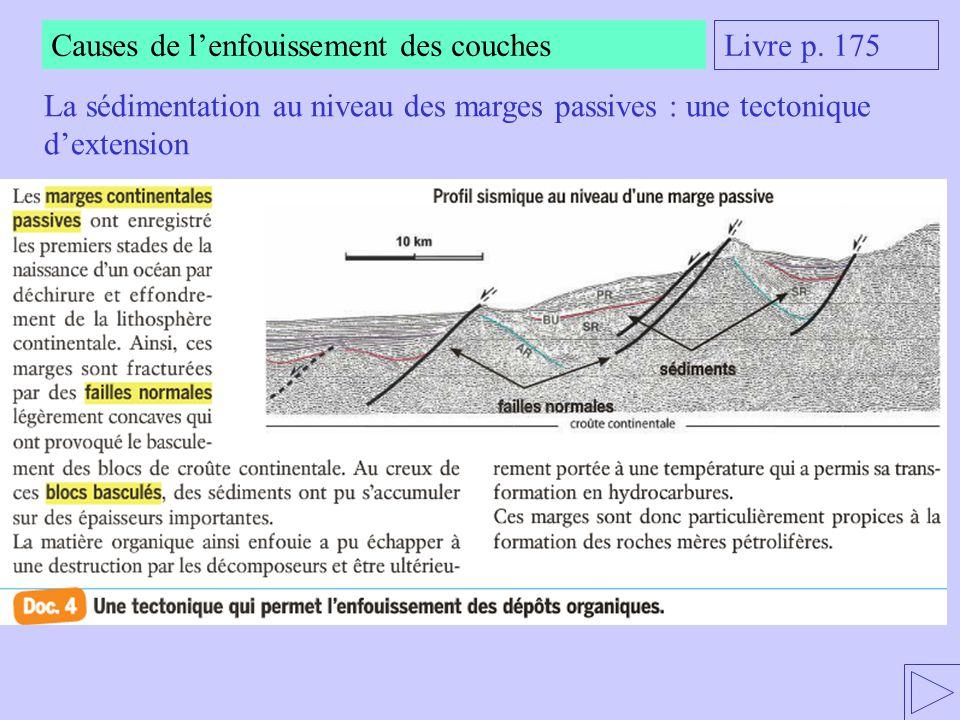 La sédimentation au niveau des marges passives : une tectonique d'extension Livre p. 175