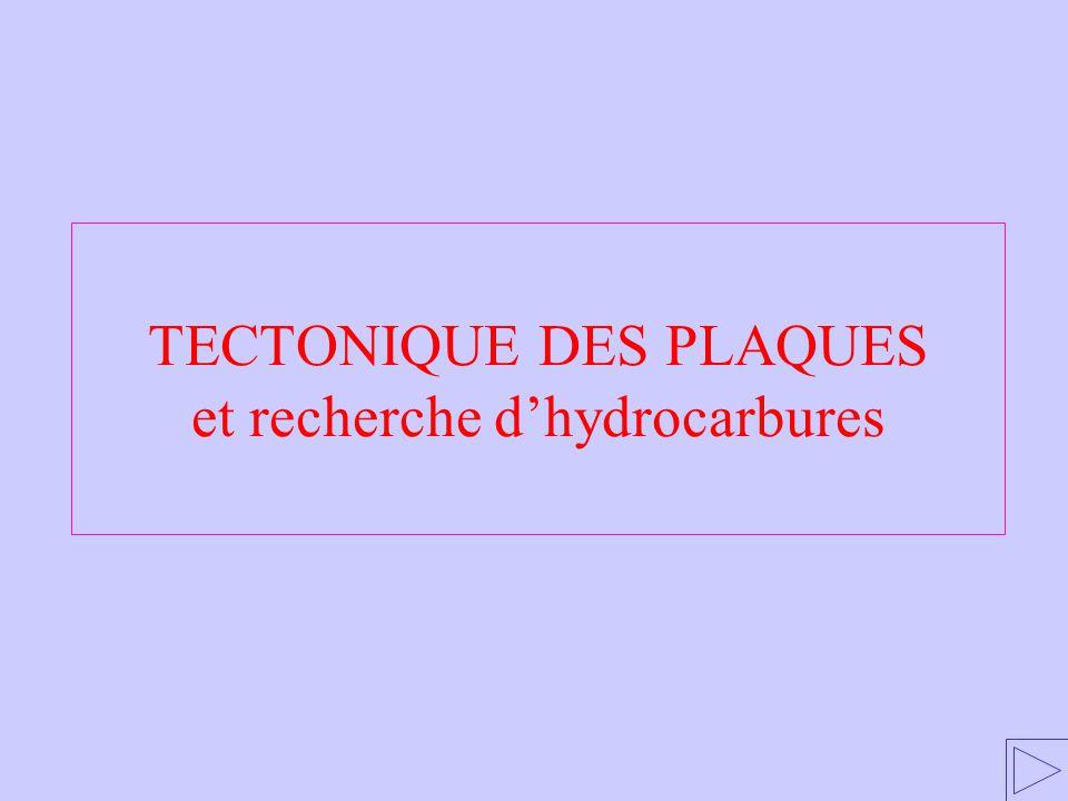 TECTONIQUE DES PLAQUES et recherche d'hydrocarbures