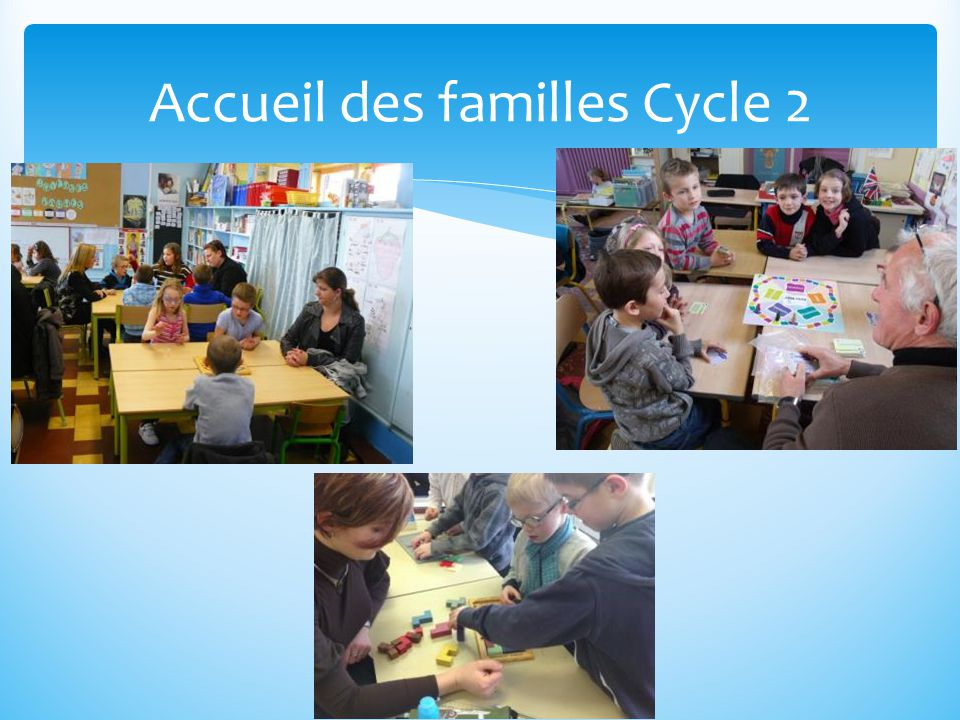 Accueil des familles Cycle 2