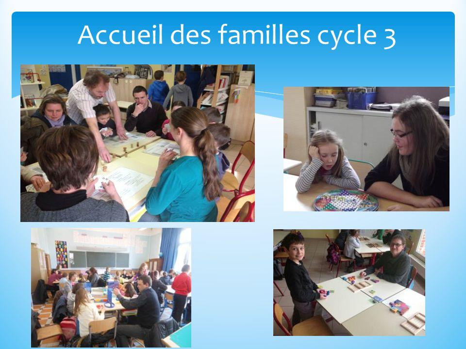 Accueil des familles cycle 3