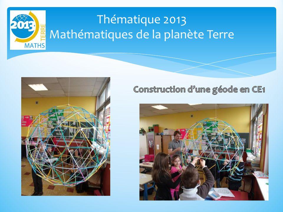 Thématique 2013 Mathématiques de la planète Terre