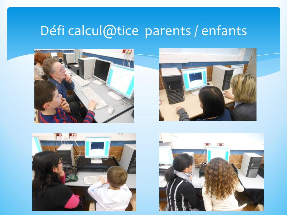 Défi calcul@tice parents / enfants