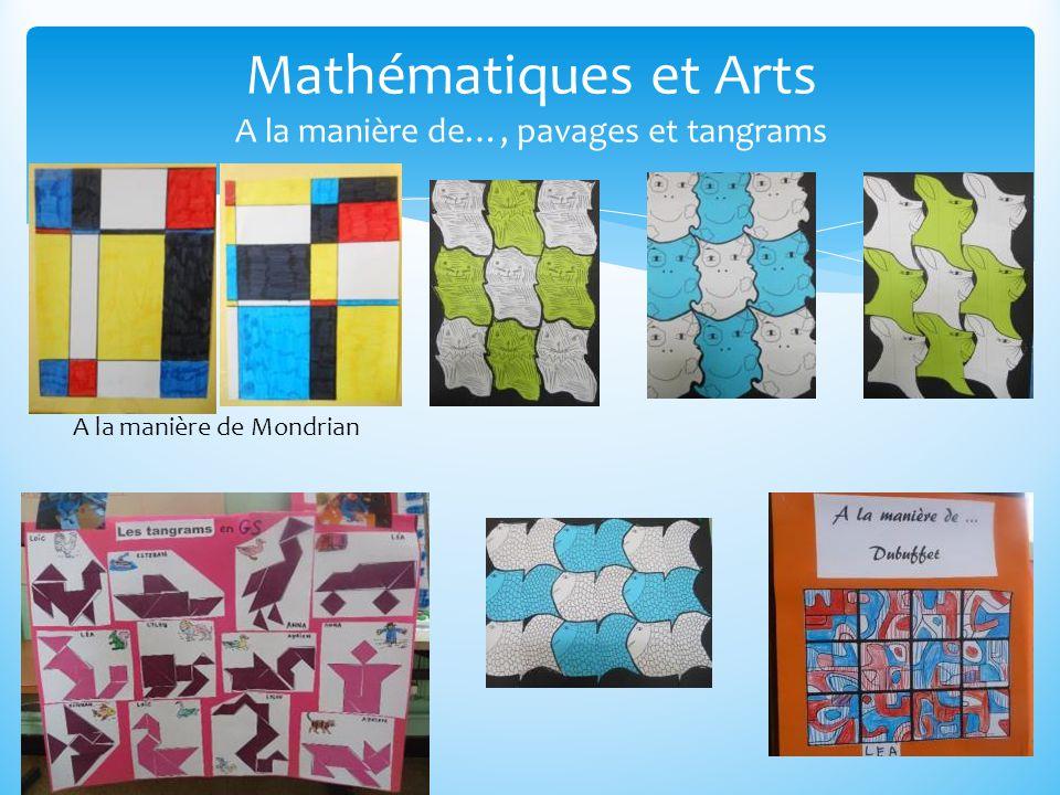 Mathématiques et Arts A la manière de…, pavages et tangrams A la manière de Mondrian