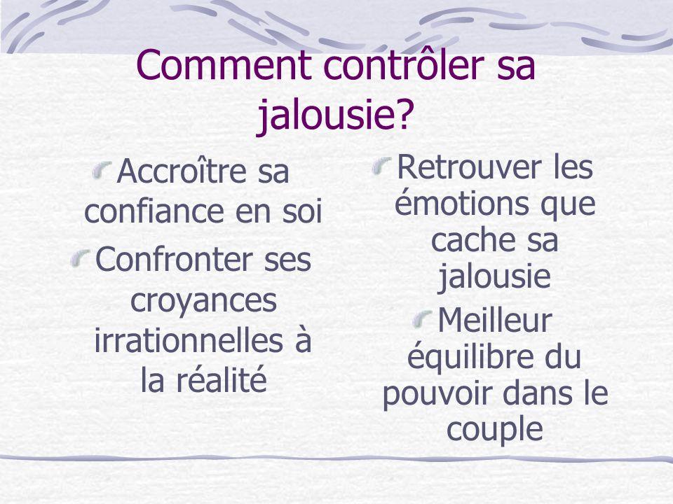 Comment contrôler sa jalousie.