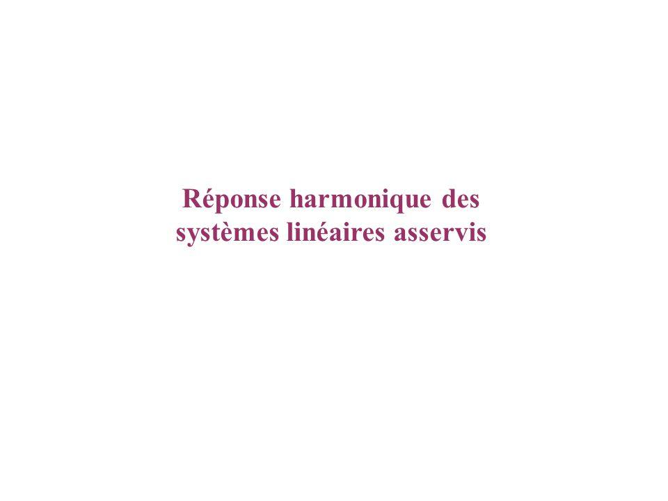 Réponse harmonique des systèmes linéaires asservis