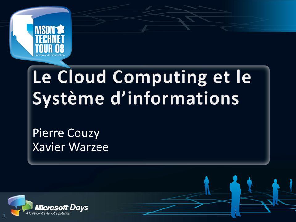 … le Cloud Computing Infrastructure mutualisée à l'échelle d'Internet Charge Souplesse Coûts