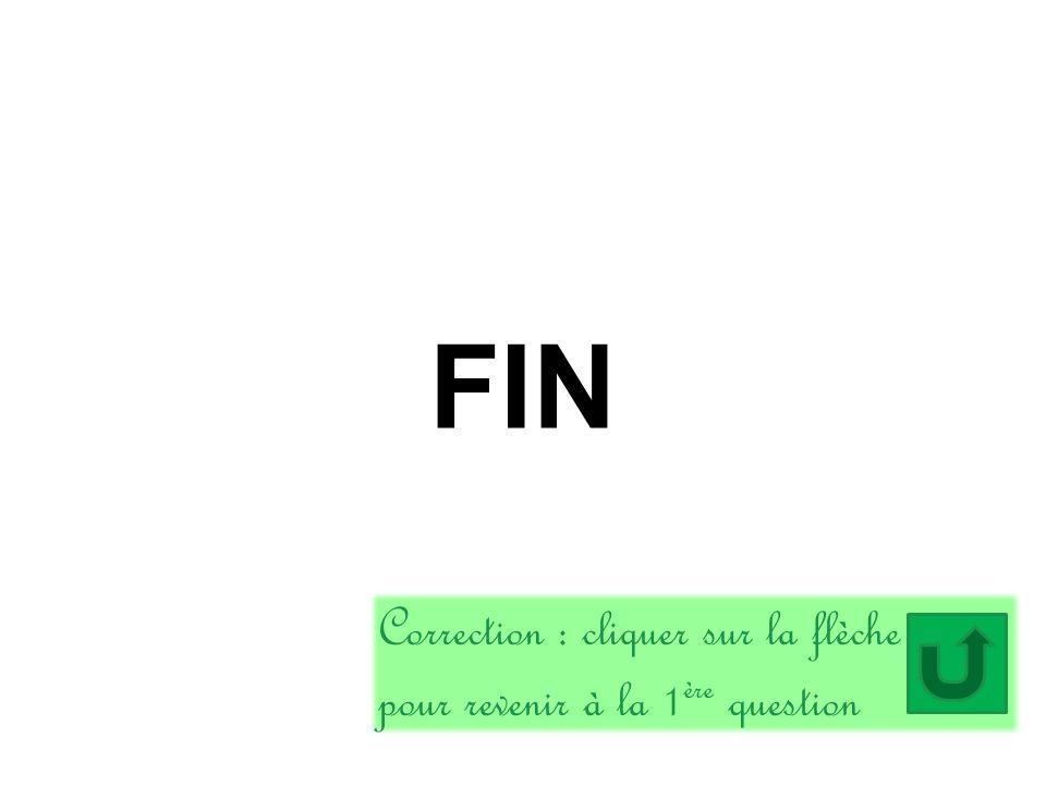 FIN Correction : cliquer sur la flèche pour revenir à la 1 ère question