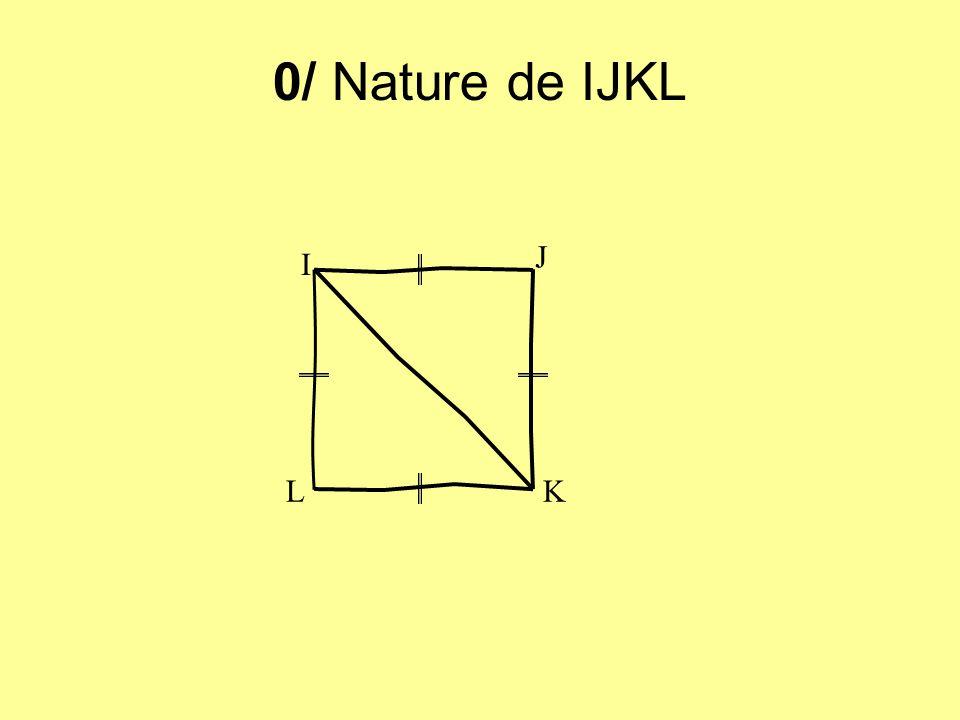 0/ Nature de IJKL I J KL