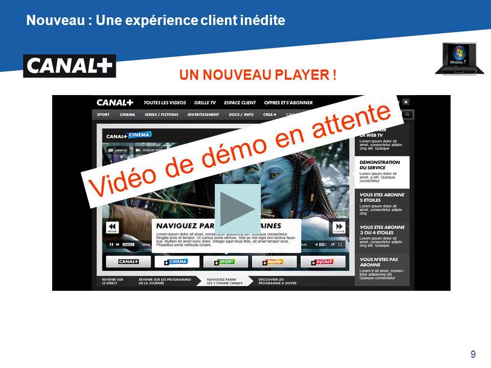 Nouveau : Une expérience client inédite UN NOUVEAU PLAYER ! Vidéo de démo en attente 9