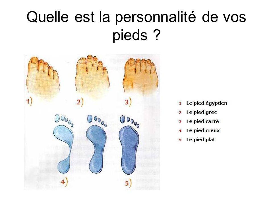Quelle est la personnalité de vos pieds