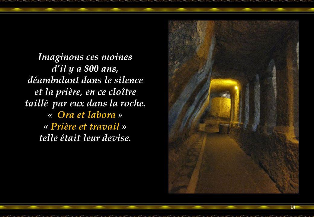 Le déambulatoire. A 20 mètres de hauteur, les moines ont commencé par là leur immense travail. 13