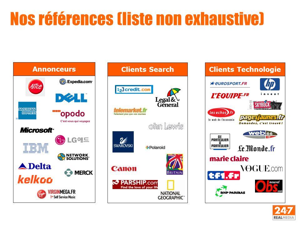 Nos références (liste non exhaustive) Annonceurs Clients TechnologieClients Search