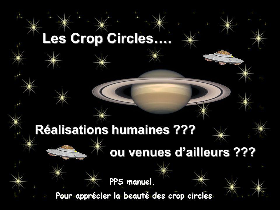 Les Crop Circles….Réalisations humaines ??. ou venues d'ailleurs ??.