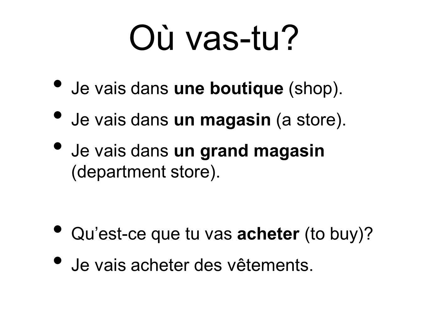 le verbe mettre to put, place, wear, put on, turn on je mets tu mets il met nous mettons vous mettez ils mettent