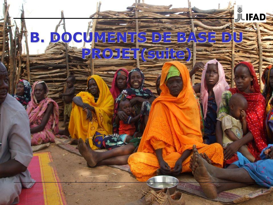 11 B. DOCUMENTS DE BASE DU PROJET(suite)