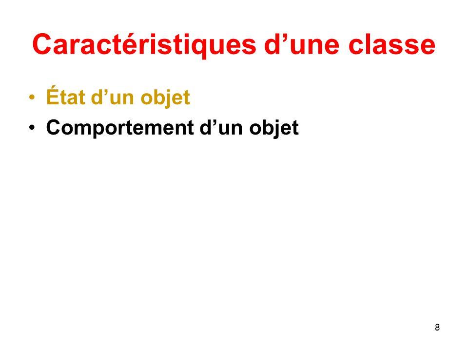 29 Opération de classe Comme pour les attributs de classe, il est possible de déclarer des opérations de classe.