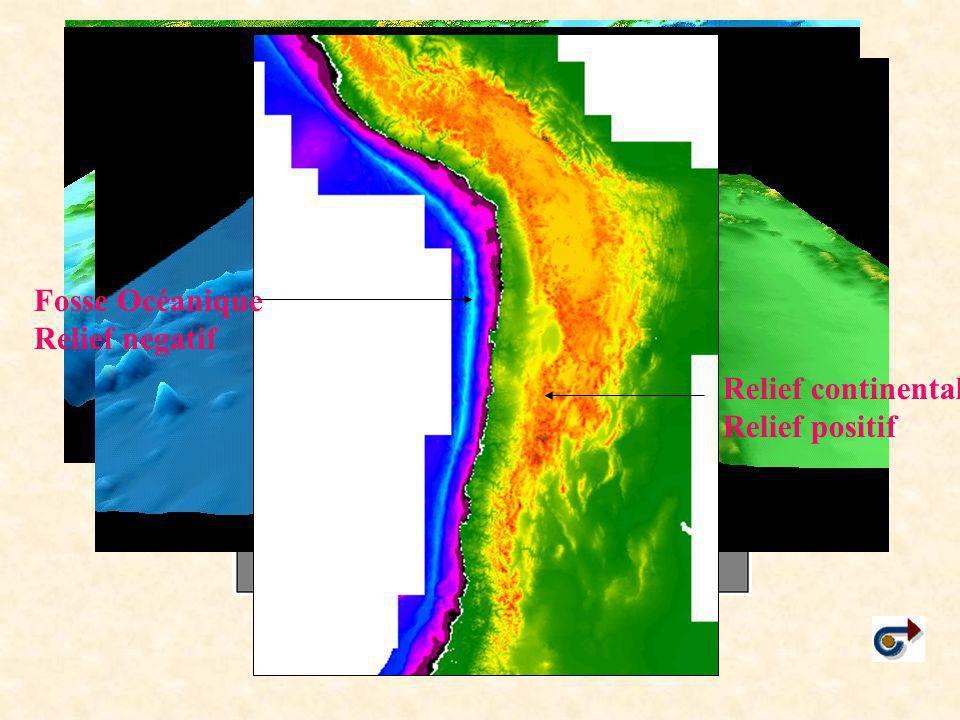 Fosse Océanique Relief negatif Relief continental Relief positif