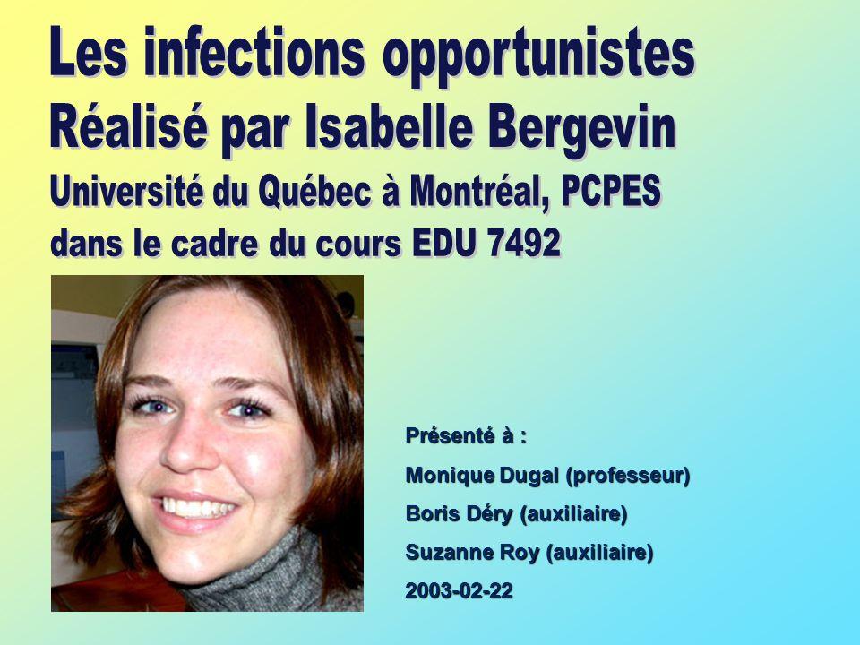 Présenté à : Monique Dugal (professeur) Boris Déry (auxiliaire) Suzanne Roy (auxiliaire) 2003-02-22