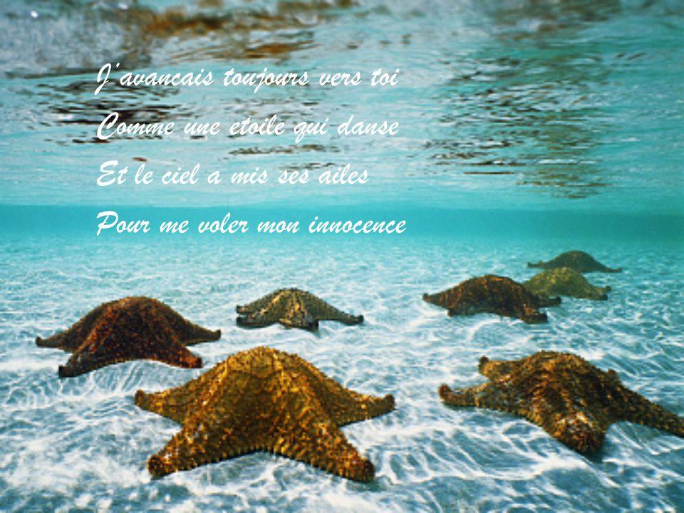 Et face aux vagues de l'ocean Tu m'as tendu la main Pour m'emmener doucement Jusqu'au premier matin