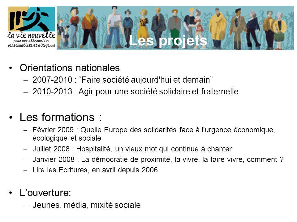 """Les projets Orientations nationales –2–2007-2010 : """"Faire société aujourd'hui et demain"""" –2–2010-2013 : Agir pour une société solidaire et fraternelle"""