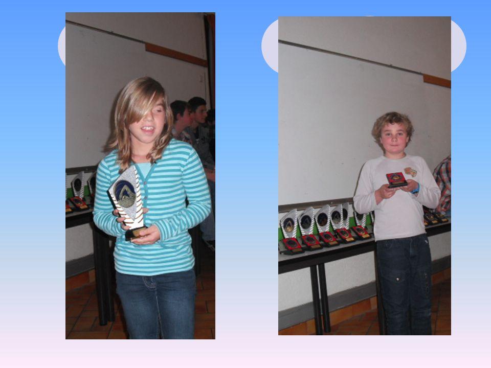 Les récompenses… FILLES 2003 DORNIER Livia479 ptsTrophée GARCONS 2003 WATERBLEZ Eliot89 ptsMédaille