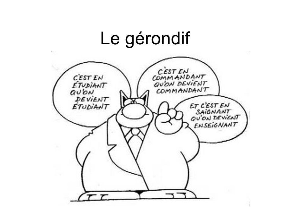 En général Le gérondif est une forme verbale qui n'existe pas en allemand.