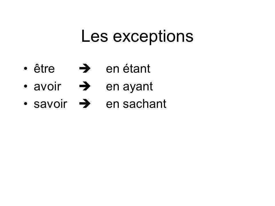 L'utilisation 1.Le gérondif exprime la simultanéité de deux actions 2.