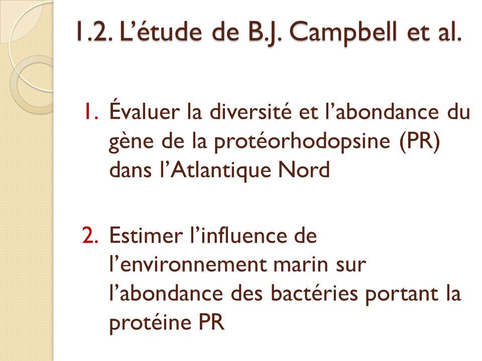 1.2.L'étude de B.J. Campbell et al.