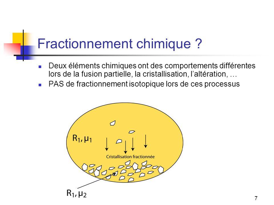 7 Fractionnement chimique .