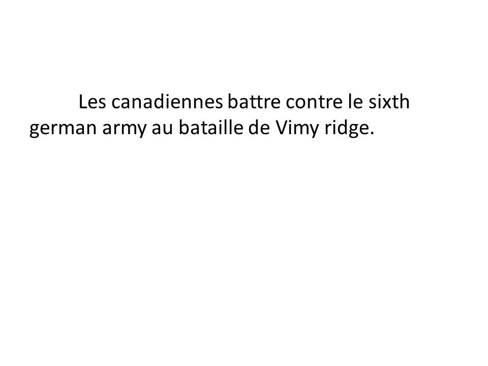 #10 Quel guerre est-ce que Vimy ridge été dedans?