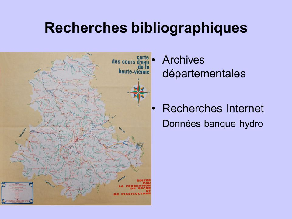 Recherches bibliographiques Dossiers divers Commissions géographiques, études préalables à la restauration de la Glane, thèse, compte rendus de confér