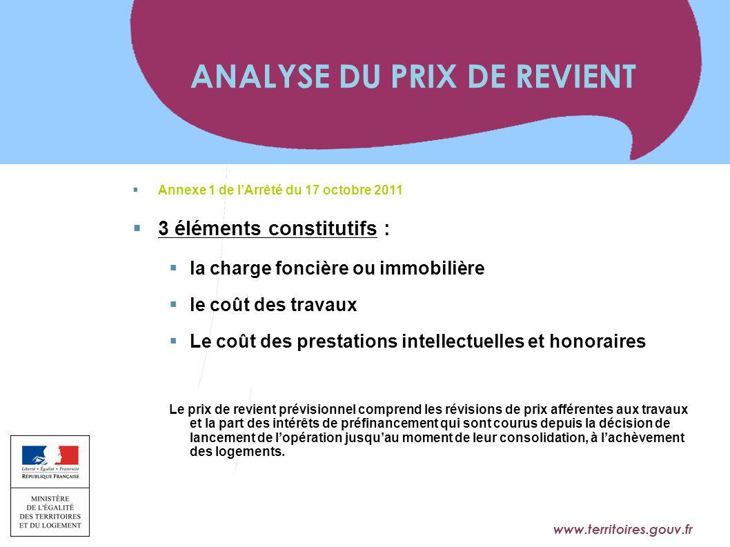 www.territoires.gouv.fr Ministère de l'Égalité des Territoires et du Logement  Annexe 1 de l'Arrêté du 17 octobre 2011  3 éléments constitutifs : 