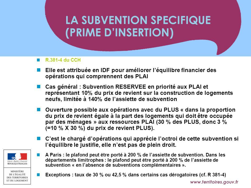 www.territoires.gouv.fr Ministère de l'Égalité des Territoires et du Logement R.381-4 du CCH Elle est attribuée en IDF pour améliorer l'équilibre fina
