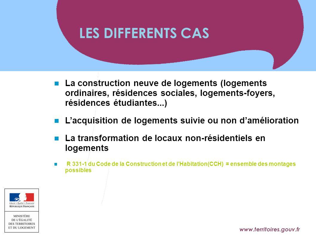 www.territoires.gouv.fr Ministère de l'Égalité des Territoires et du Logement La construction neuve de logements (logements ordinaires, résidences soc