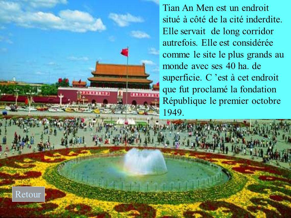 Tian An Men est un endroit situé à côté de la cité inderdite.