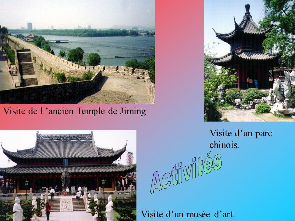 Visite d'un parc chinois. Visite d'un musée d'art. Visite de l 'ancien Temple de Jiming