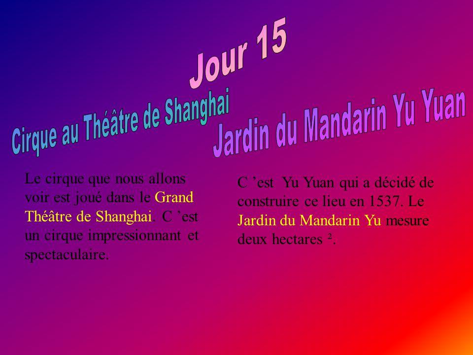 Le cirque que nous allons voir est joué dans le Grand Théâtre de Shanghai.
